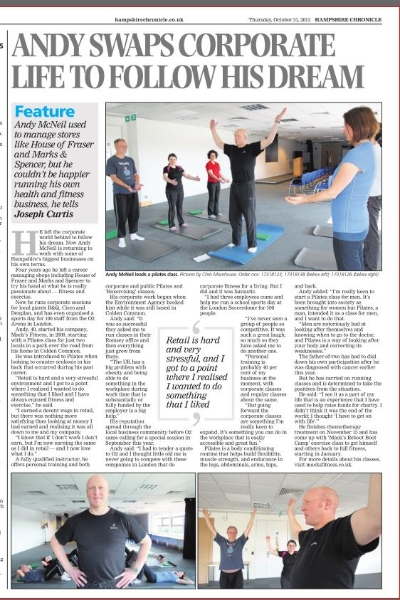 Macks Fitness Hampshire Chronicle